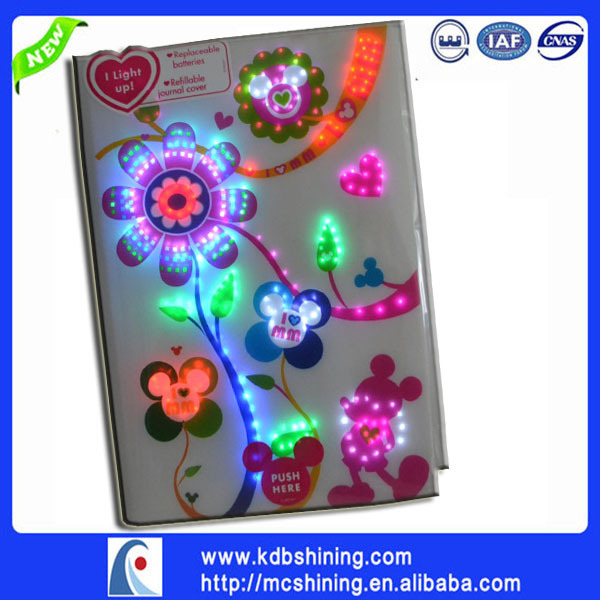 cusotm design electronic diary with fiber optic