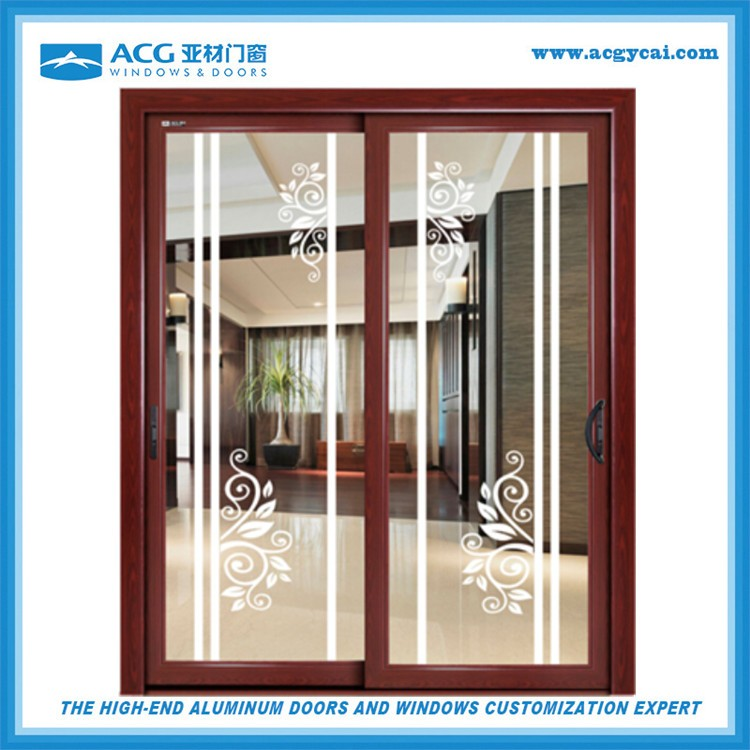 4 12mm vidrio esmerilado venta caliente interior puerta for Puertas aluminio interior cristal
