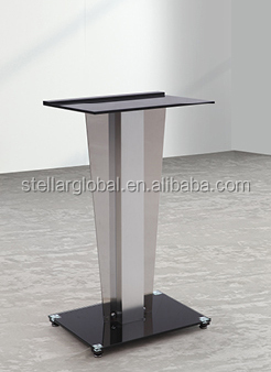 Professional Podium with Tempered Glass With Metal Structure High Quality Podium Podium at low price