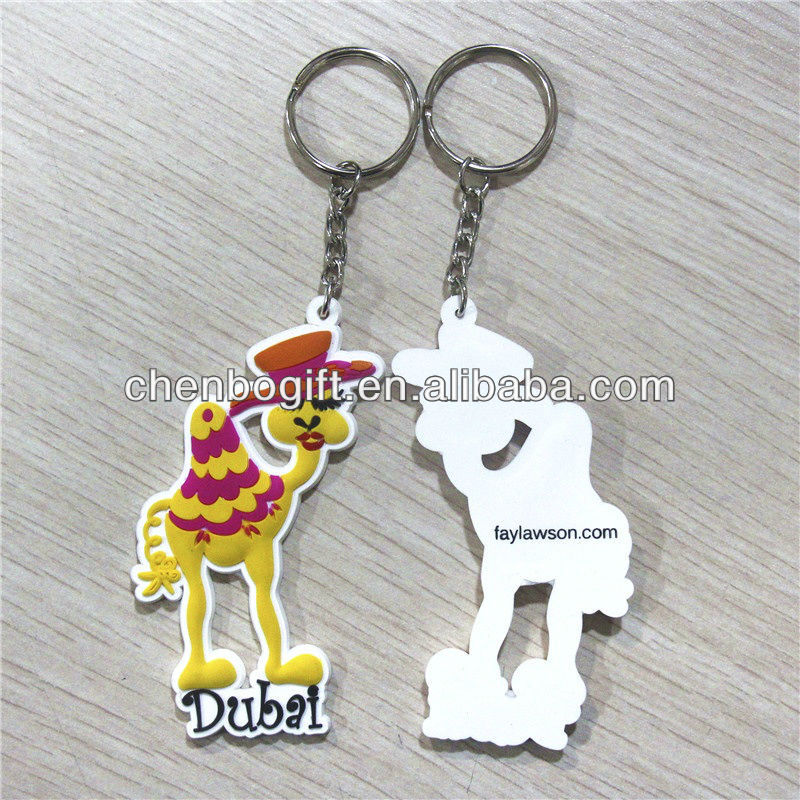 Eco-friendly soft pvc key chian / custom design shape cartoon pvc rubber key chain