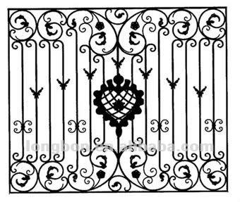 2017 Top Selling Security Wrought Iron Window Grill Design Buy