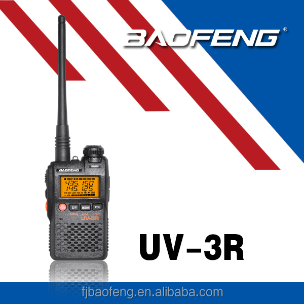 2015 BAOFENG Mini walkie talkie Two Way Radio dual band Transceiver UV-3R With Free Earphone radio amador baofeng uv 3r