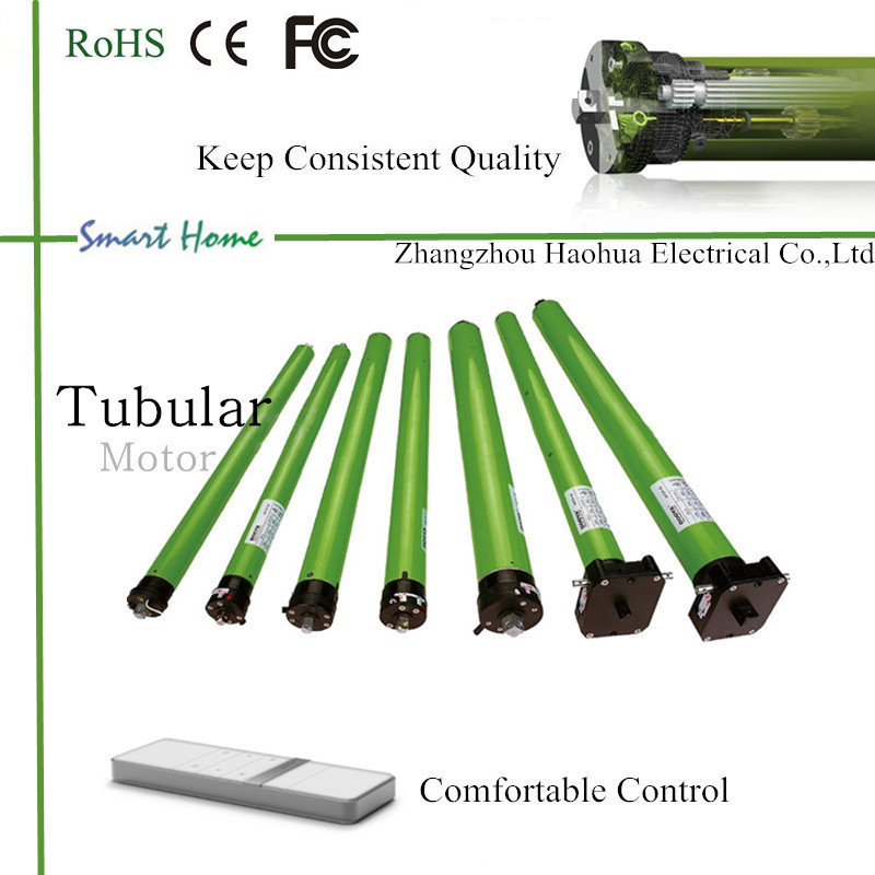with integrated radio tubular motor with batteries for blinds / motor tubular