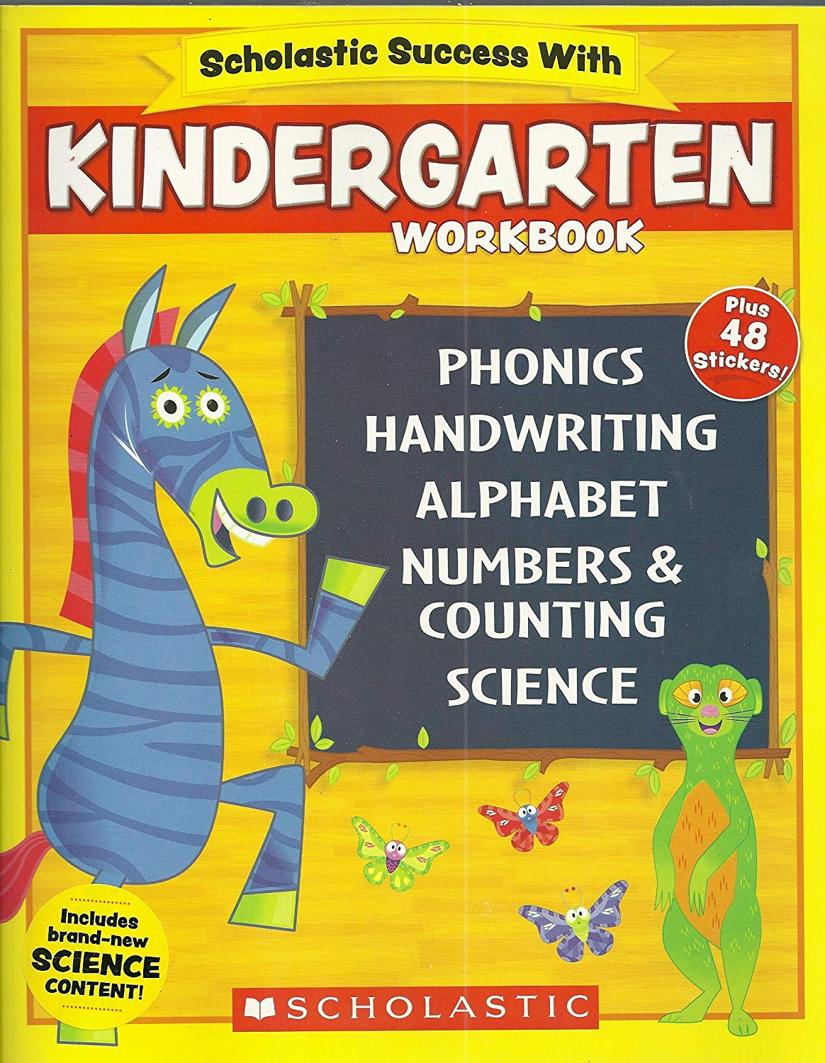 Scholastic NEW 2018 Edition Pre-K Workbook with Motivational Stickers
