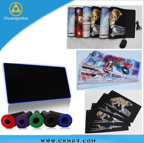 Factory sublimation printing Custom printed neoprene gaming mouse mat