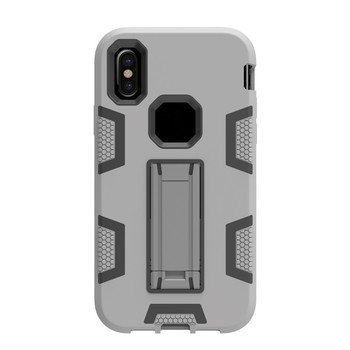 Hybrid plastic shockproof 3 in 1 mobile phone case for samsung galaxy s7 edge armor stand case for samsung s6 s6edge s5 s4 s3