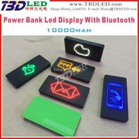 10000mAh power bank Caller ID Boxes MINI led power bank display ,power bank with Bluetooth