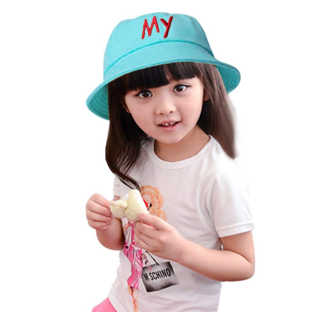 3f62c3bda95 Get Quotations · Ylucky Infant Sun Hat Visor Toddler Kids Bucket Hat  Breathable Reversible Alphabetical Fisherman Hat UV Protective
