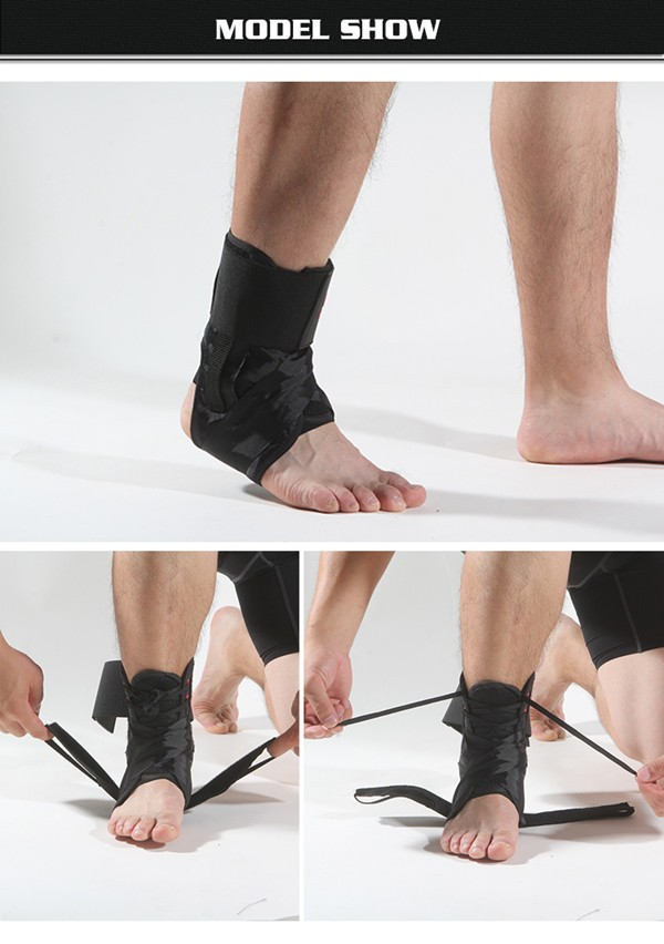 CE approved relieve ankle fracture sprain ankle brace with shoelaces