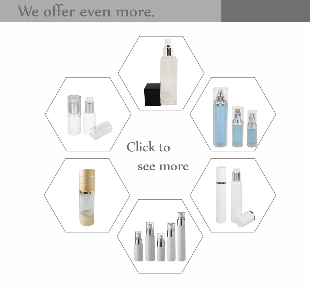 Latest high end product cosmetics makeup beauty products empty press pump travel cosmetic bottle
