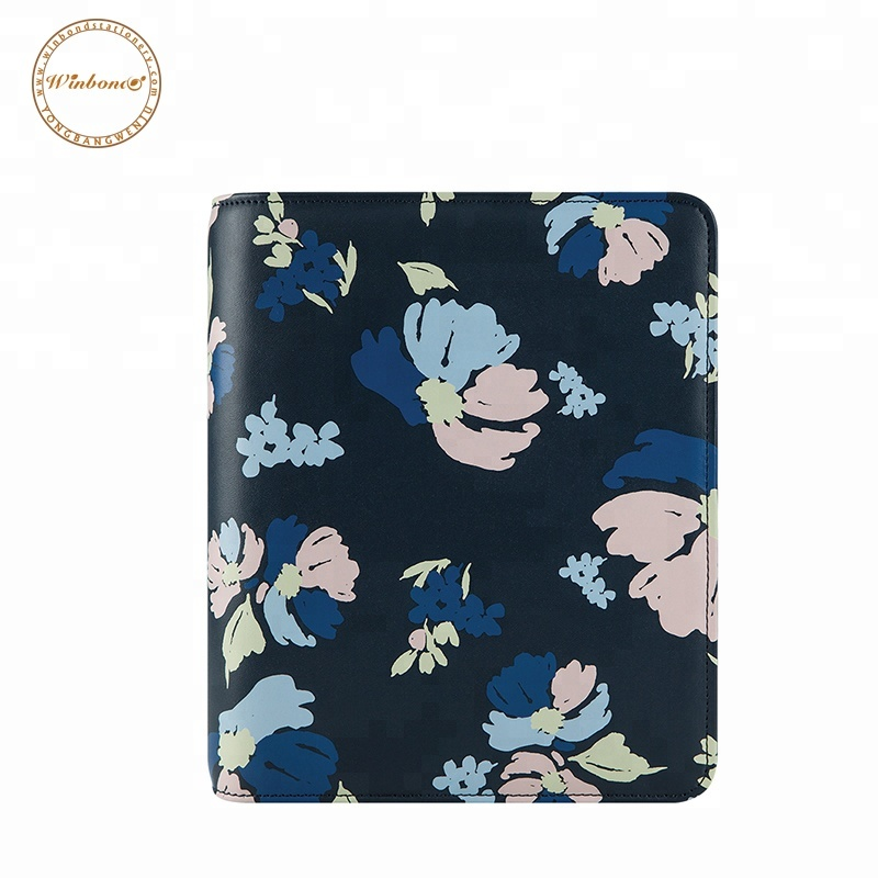 Blüte druck nach A5 planer leder ringbuch notebook cover lock tagebuch