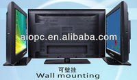 42inch ultra thin wall hanging lcd tv with output PC 3G WIFI camera