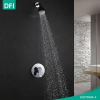 DFI single lever plastic shower head set with shower valves