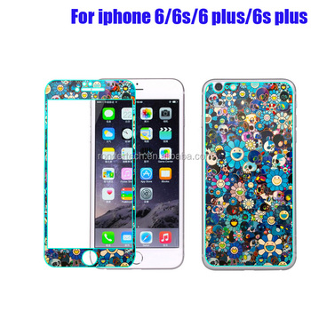 3d Sunflower Printed Tempered Glass Screen Protector For Iphone 6 ...