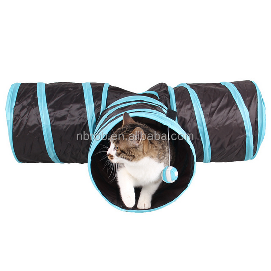 Pet Fun Folding Tunnel 3 Way Play Cat Tunnel