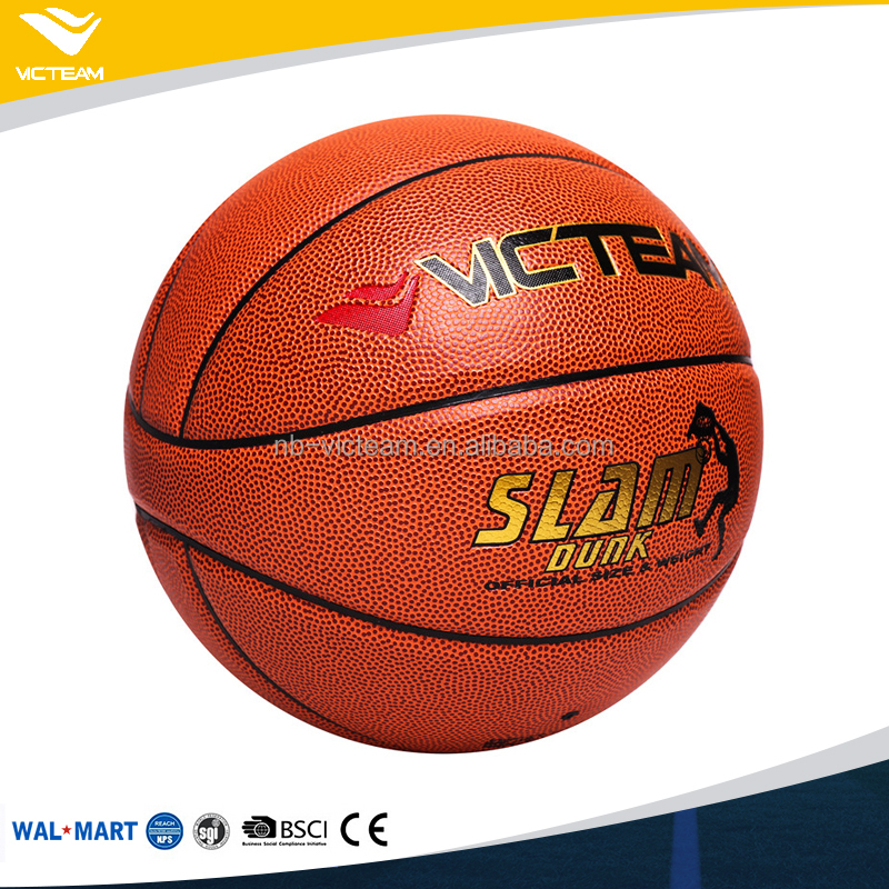 New Design Unique 7 Panels Glossy Superior PU Standard Size Basketball