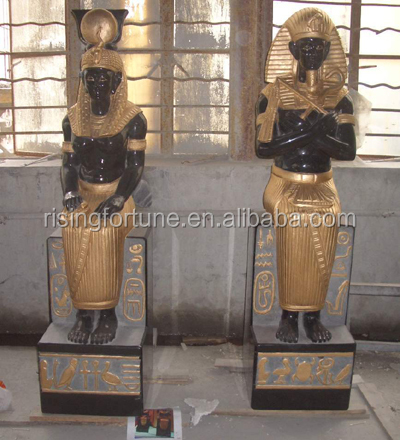 Indoor egyptian pharaoh statues sculptures