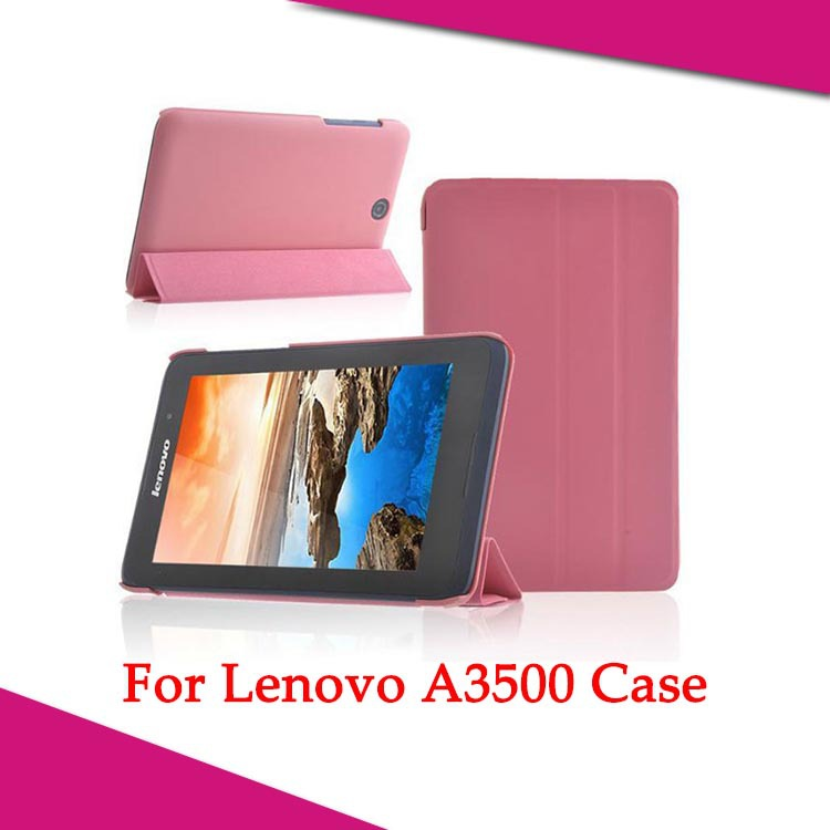 timeless design 3b739 2fd6e 2014 Newest Lenovo A3500 Folio PU Stand Leather Case Cover For Lenovo Tab  A7-50 A3500 7 inch Tablet PC+Free shipping