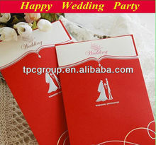 Creative folding wedding inviation card