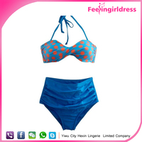 Hot Selling Fashion Lady Newest Retro High Waist Bikini