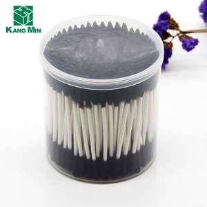 Wholesale Market Experienced Factory 200pcs/PP Mini Black Paper Sticks Cotton Buds Swab
