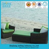 Hot selling children cane furniture outdoor benches small sofas