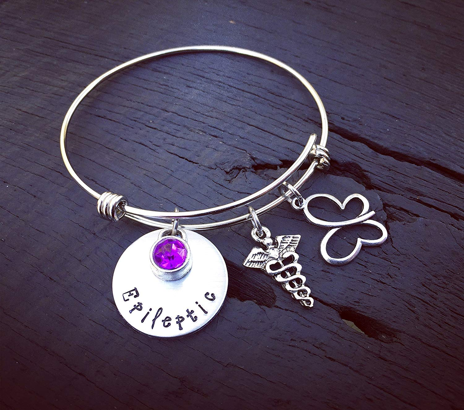 Get Quotations Epileptic Bracelet Epilepsy Jewelry Medical Alert Gift For