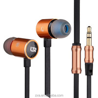 2015 noise cancelling head phones with long cable, new arrival metallic earphone for girls.