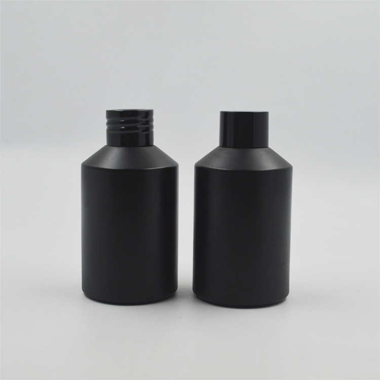 High Quality frosted Black Oblique glass bottle Cosmetic packaging cream glass jar
