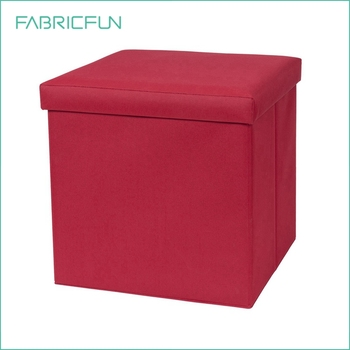 Collapsible Oxford Fabric Storage Ottoman With Cushion Top Storage Stool Seat Box Buy Fabric Storage Ottoman Storage Ottoman Storage Stool Seat Box