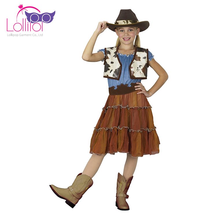 Holiday carnival cosplay cowgirl costume for child