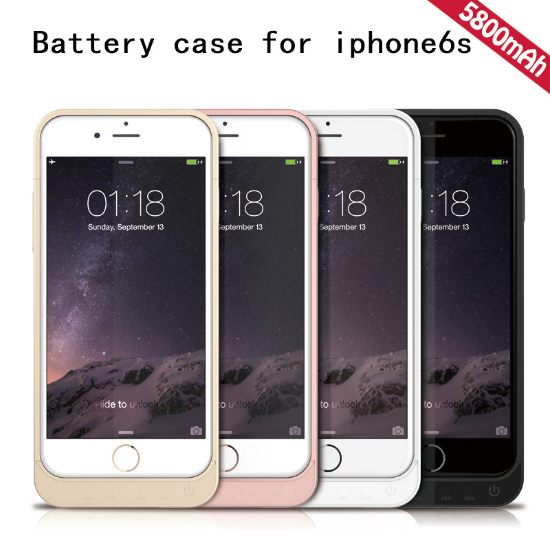 best service 09c4b 45bdd For Iphone 6 6s Battery Case Ultra Thin 5800mah Power Bank Battery Charger  Rechargeable Back Case - Buy For Iphone 6 Battery Case,For Iphone 6s ...