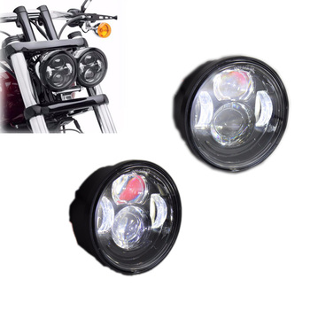 For Yamaha Assembly Led 5inch Round Scooter Headlight Vintage