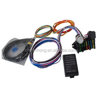 car wiring harness kits fuse box 12 circuit universal wire harness kits muscle car hot rod  wire harness kits muscle car hot rod