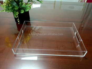 Customized Hotel Lucite Acrylic Trays With Handle From China ...