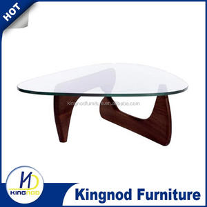 European wooden coffe table, Glass triangle coffee tables
