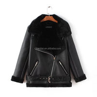 Fashion Women winter coat motorcycle jacket for women fur coat