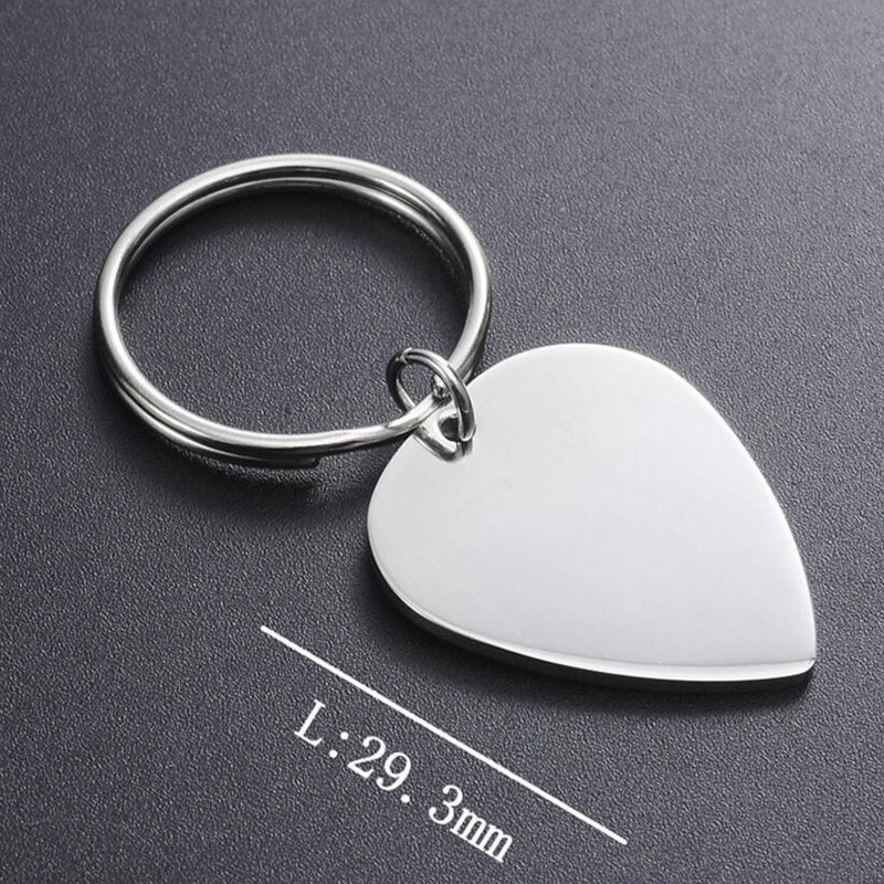 Cheap Wholesale Engravable 316L Stainless Steel 1.8mm thin Heart Stainless steel keychain