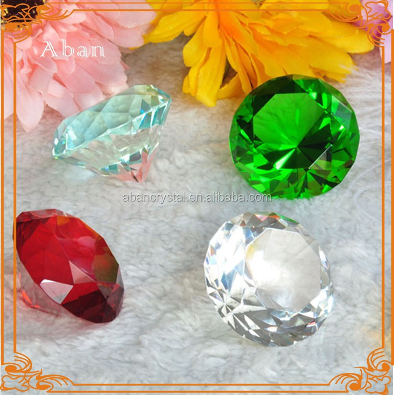 Colored 40mm crystal diamond,crystal diamond stone