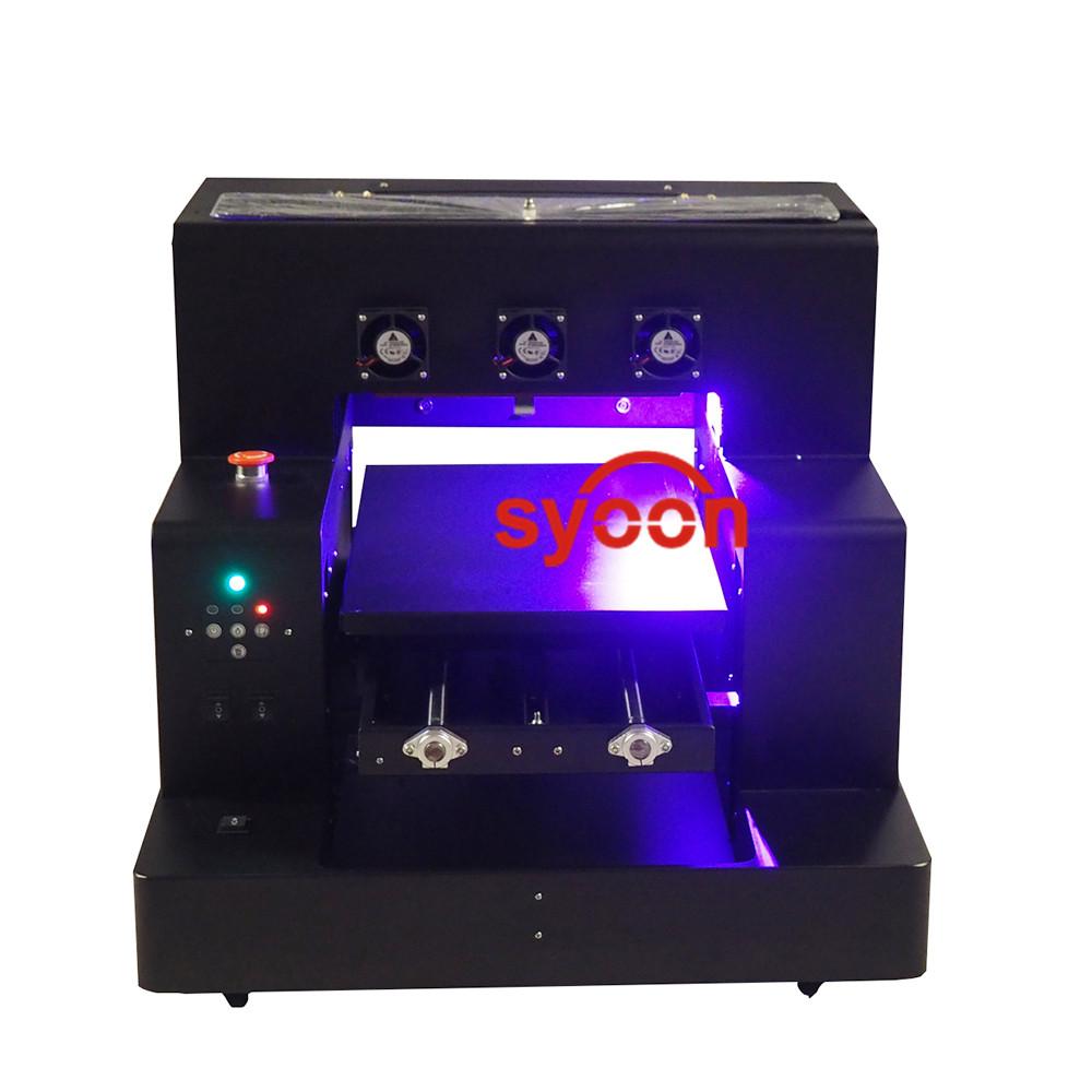 Multifunctionele automatische A3 size uv drukmachine Rotary fles cup/mok inkjet UV led printer met RIP software9.0