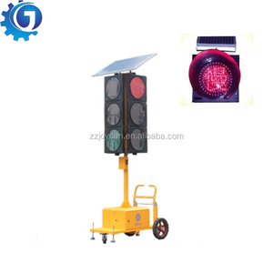 Solar mobile LED traffic light Four-side LED Flashing Stop Sign