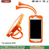 High quality silicone mobile phone case for iphone5 5s case Grasshopper and ice cream Shape sucker stand Frame for apple 5s