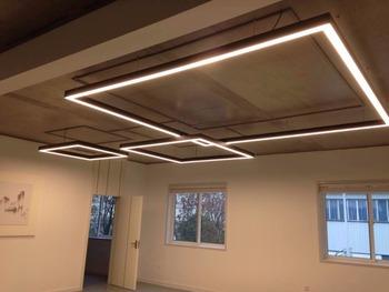 Función Múltiple Comercial Restaurante Cocina Kit De Suspensión Iluminación  Oficina Decoración LED Colgante Lámpara Lineal