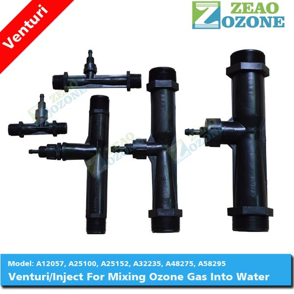 Venturi jet aeration,ozone venturi nozzle for gas water mixing used in pool system