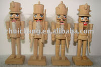 unpainted nutcracker DIY wooden crafts