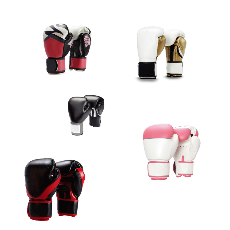 China Factory Wholesale Leather Boxing Gloves