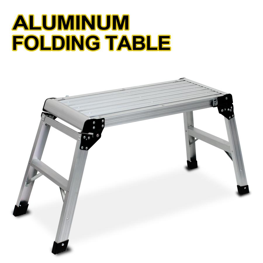 New Aluminum Platform Drywall Step Up Folding Table Work