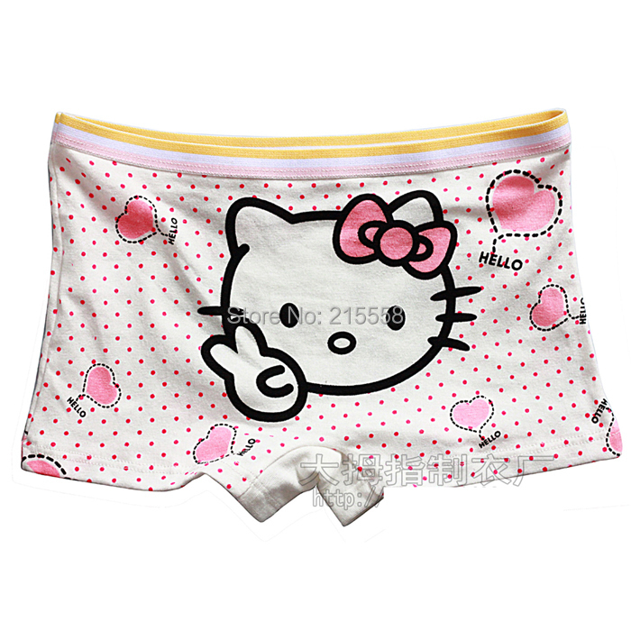 Hello kitty children underwear for girls kids panties baby kids Polka Dot Heart underwear pants short panties JJAL ZG110