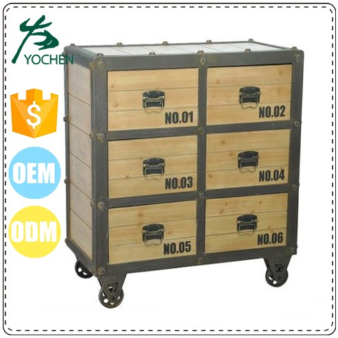 Industrial Wood and Metal 6 8 Drawers Black The Cabinet