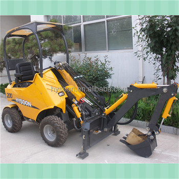 hysoon hy200 mini garden tractor loader with hydraulic hammer - Garden Tractor Loader